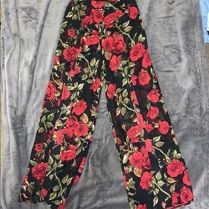 Pants - Rose pattern pants